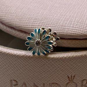 PANDORA Blue Daisy Flower Charm
